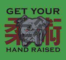 """Get Your Hand Raised"" - Jiu Jitsu Bulldog (on white) Kids Clothes"