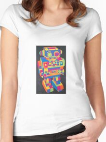 Neon Robot 5 Women's Fitted Scoop T-Shirt