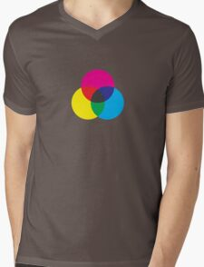 Subtractive Color Mens V-Neck T-Shirt