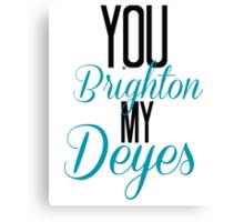 You Brighton My Deyes - Alfie Deyes/Zoe Sugg Canvas Print