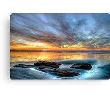 Glowing Puddles Canvas Print