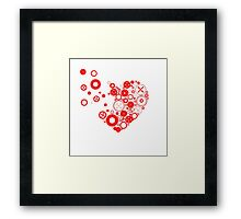 My heart is exploding Framed Print