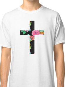 Christian Cross with roses Classic T-Shirt
