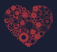 Mechanical Heart One Piece - Long Sleeve
