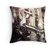 city reflections Throw Pillow