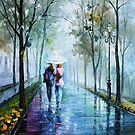 Foggy Stroll — Buy Now Link - www.etsy.com/listing/205719355 by Leonid  Afremov