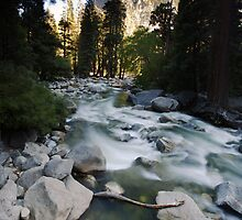 Downstream Creek from Yosemite Falls by Adam Bykowski