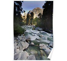 Downstream Creek from Yosemite Falls Poster