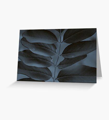 Black & Blue Greeting Card