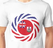 Bermudan American Multinational Patriot Flag Series Unisex T-Shirt