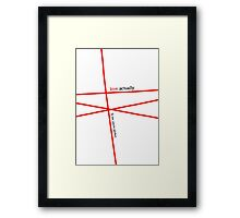 Minimalist - Love Actually #1 Framed Print