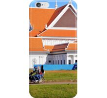 Three people on a motorbike in Cambodia iPhone Case/Skin