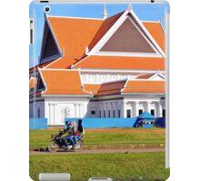 Three people on a motorbike in Cambodia iPad Case/Skin