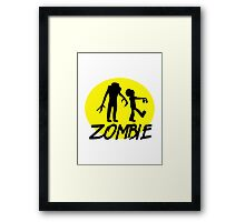 Zombies moon Framed Print