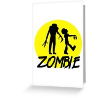 Zombies moon Greeting Card