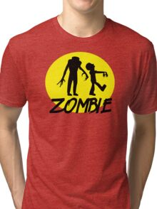 Zombies moon Tri-blend T-Shirt