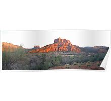 Sundown Cathedral  Rock  Poster