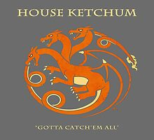 House Ketchum - Gotta Catchem' All Pokemon Game of Thrones Crossover by James Quinn