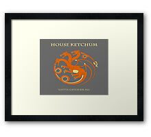 House Ketchum - Gotta Catchem' All Pokemon Game of Thrones Crossover Framed Print