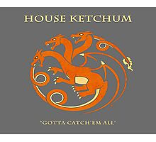 House Ketchum - Gotta Catchem' All Pokemon Game of Thrones Crossover Photographic Print