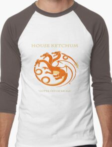 House Ketchum - Gotta Catchem' All Pokemon Game of Thrones Crossover Men's Baseball ¾ T-Shirt