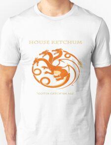 House Ketchum - Gotta Catchem' All Pokemon Game of Thrones Crossover T-Shirt