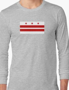 Flag of Washington DC  Long Sleeve T-Shirt