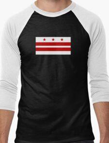 Flag of Washington DC  Men's Baseball ¾ T-Shirt