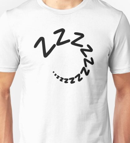 Sleeping tired zzz Unisex T-Shirt