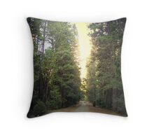 SUNSET AT YOSEMITE VALLEY Throw Pillow