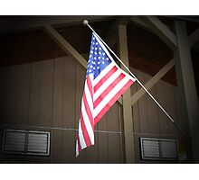AMERICAN FLAG AT YOSEMITE VALLEY Photographic Print