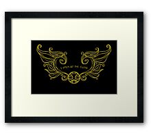 I Open at the Close - Gold Version Framed Print
