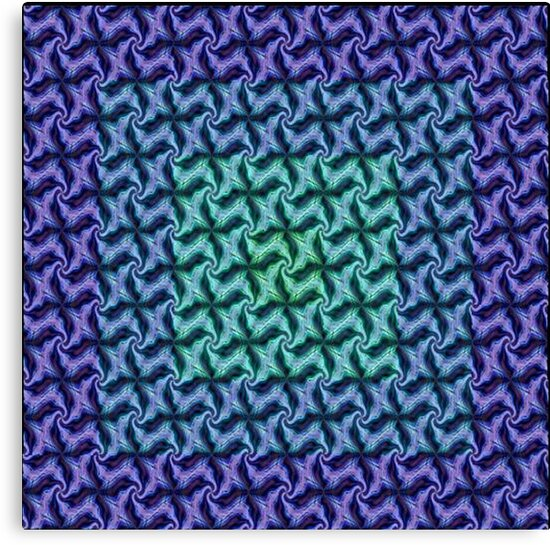 Fractal Fusion - In Teal, Aqua and Lilac by taiche