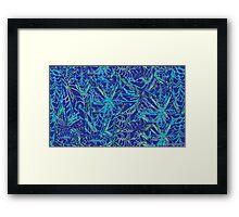 Blue Weeds Framed Print