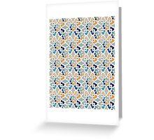 Geometric Pattern - Oriental Design  Greeting Card