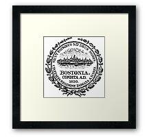 Seal of Boston Framed Print