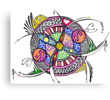 Funky out-of-the-box mandala Canvas Print