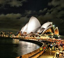 Sydney at night HDR by John Vandeven