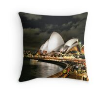 Sydney at night HDR Throw Pillow