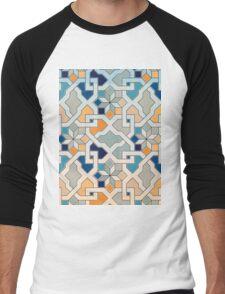 Geometric Pattern - Oriental Design  Men's Baseball ¾ T-Shirt