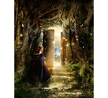 """A Knock at the Door"" - Illustration Photographic Print"