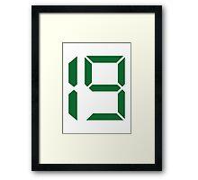 Number 19 nineteen Framed Print