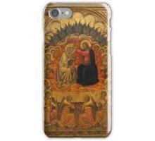 Niccolò di Buonaccorso (Italian, active Siena by 1372–died 1388 Siena) The Coronation of the Virgin c1380 iPhone Case/Skin