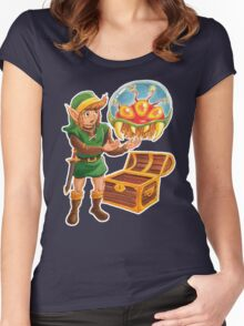 Link finds a Metroid Women's Fitted Scoop T-Shirt
