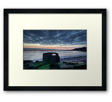 The thing on the shore Framed Print