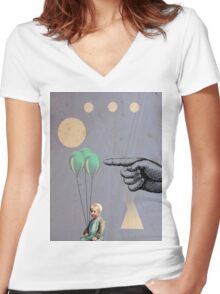 Surprise - Modern Abstract Women's Fitted V-Neck T-Shirt