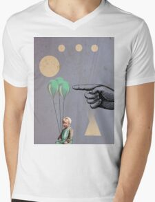 Surprise - Modern Abstract Mens V-Neck T-Shirt