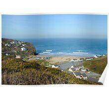 Porthtowan Beach Cornwall UK Poster