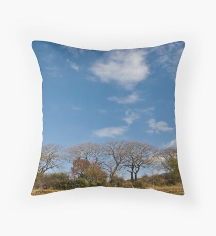 Twisted willows Throw Pillow