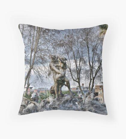 Fontana del Ratto di Proserpina, Catania Throw Pillow